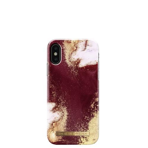 iDeal of Sweden Golden Burgundy Marble Etui ochronne do iPhone X lub XS