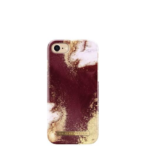 iDeal of Sweden Golden Burgundy Marble Etui ochronne do iPhone 6 lub 6s lub 7 lub 8