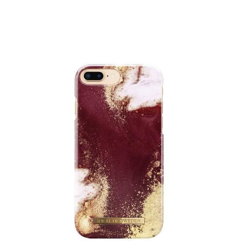 iDeal of Sweden Golden Burgundy Marble Etui ochronne do iPhone 6 lub 6s lub 7 lub 8 PLUS