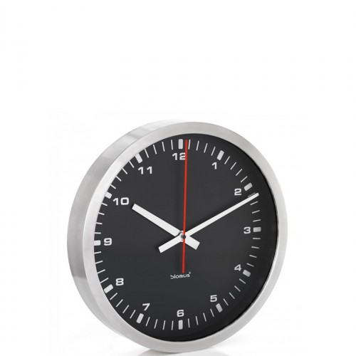 Blomus Era zegar ścienny, czarny