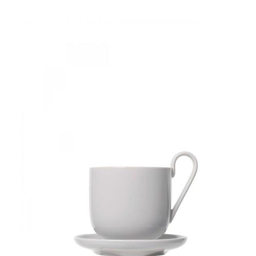 Blomus RO Zestaw dwóch kubków z podstawkami do kawy