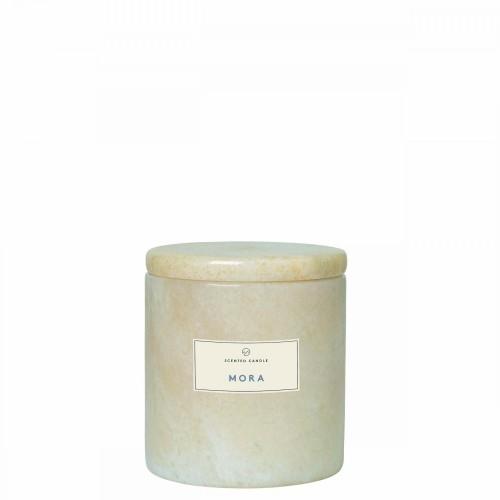 Blomus Frable Mora Moonbeam Marmurowa świeca zapachowa