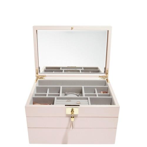 Stackers Loves Luxury Potrójne pudełko na biżuterię z pokrywką i lusterkiem