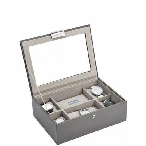Stackers Stackers Pudełko na zegarki ze szklaną pokrywką