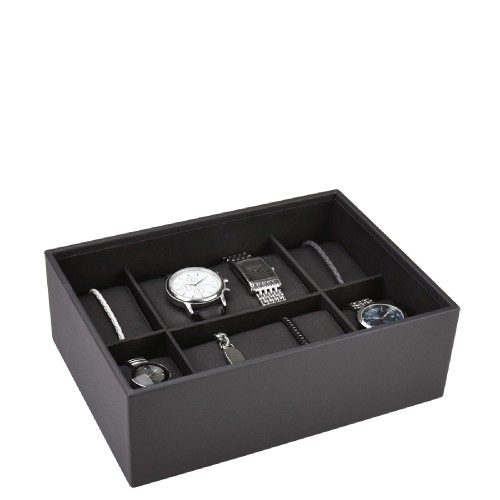 Stackers Classic Pudełko na zegarki 6 komorowe