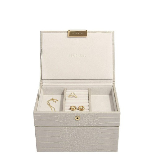Stackers Croc Szkatułka na biżuterię podwójna mini z pokrywką