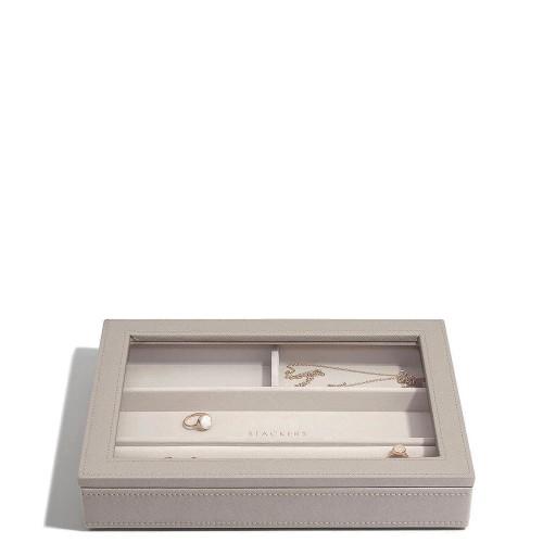 Stackers Classic 4 komorowa szkatułka na biżuterię z pokrywką