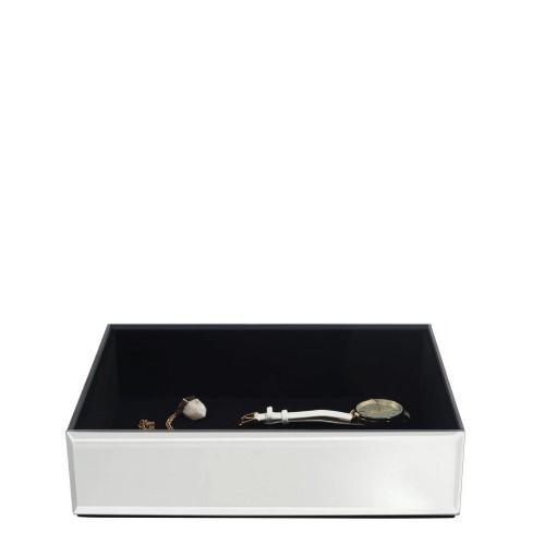 Stackers Classic Velvet Szkatułka na biżuterię szklana z czarną wyściółką