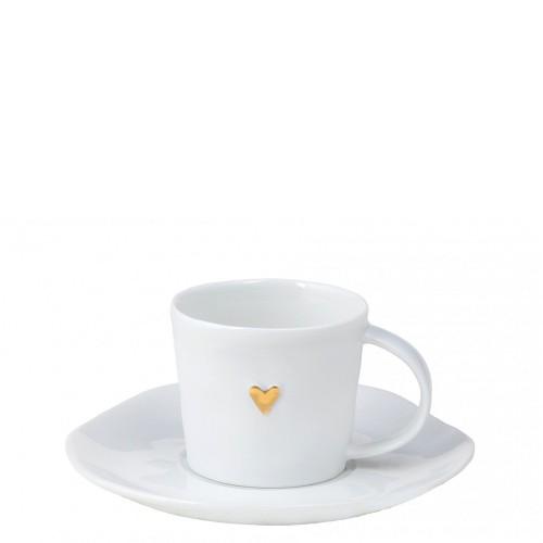 Raeder Złote serce Filiżanka do espresso ze spodkiem
