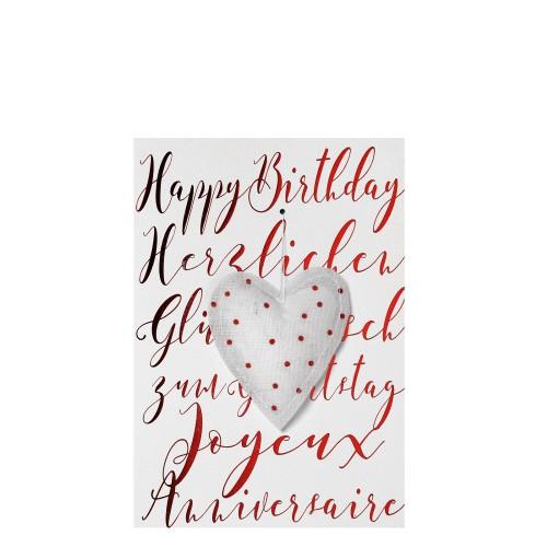 Raeder Happy Birth-day Kartka