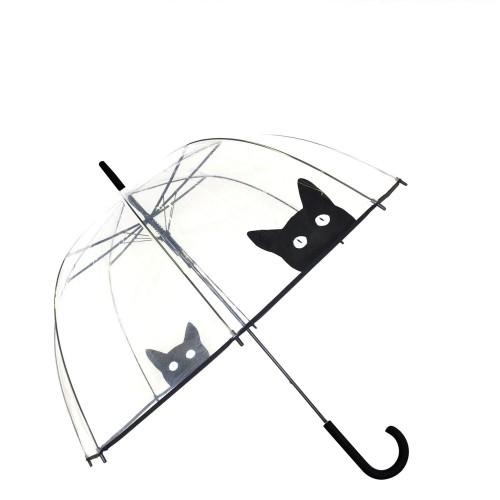 Smati Smati parasol przezroczysty kot
