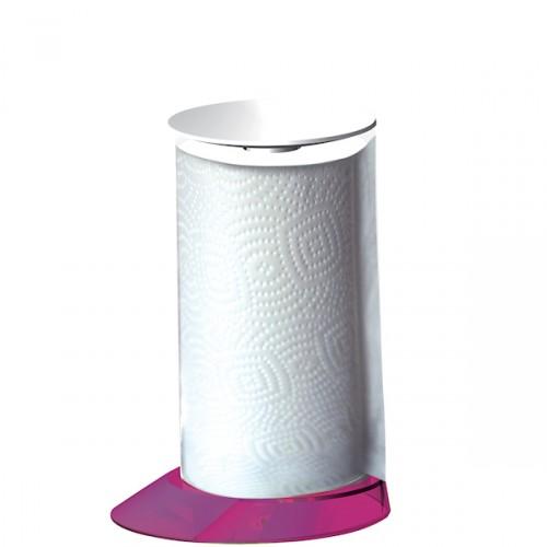 Casa Bugatti Glamour stojak na ręczniki papierowe, kolor różowy