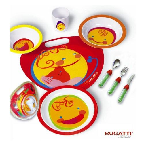 Casa Bugatti 8-częściowy zestaw sztućców i naczyń dla dzieci