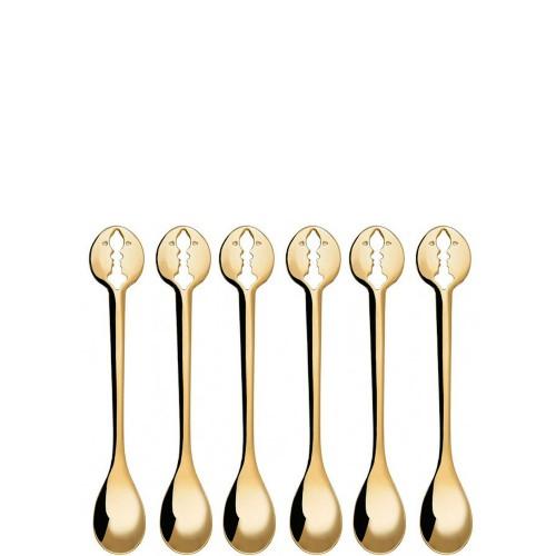 Casa Bugatti Kiss Gold Zestaw 6 łyżeczek do espresso