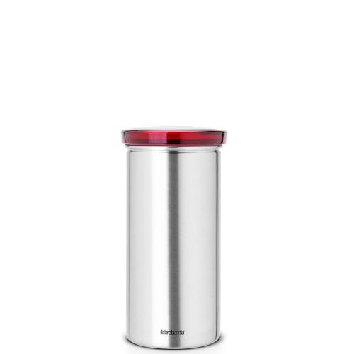 Brabantia Senseo pojemnik do kawy lub herbaty, stal matowa FPP pokrywa czerwona