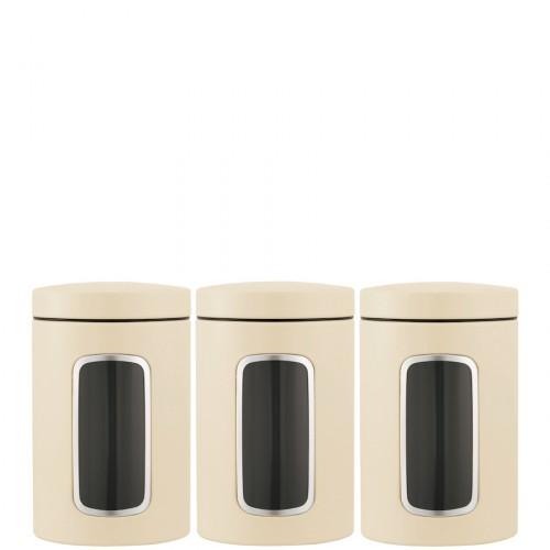 Brabantia Storage Brabantia komplet 3 pojemników kuchennych, kolor beżowy
