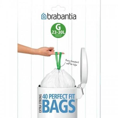 Brabantia Worki na śmieci 30l rozmiar G 40 szt