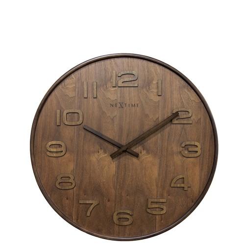 NeXtime Wood Wood Big zegar ścienny
