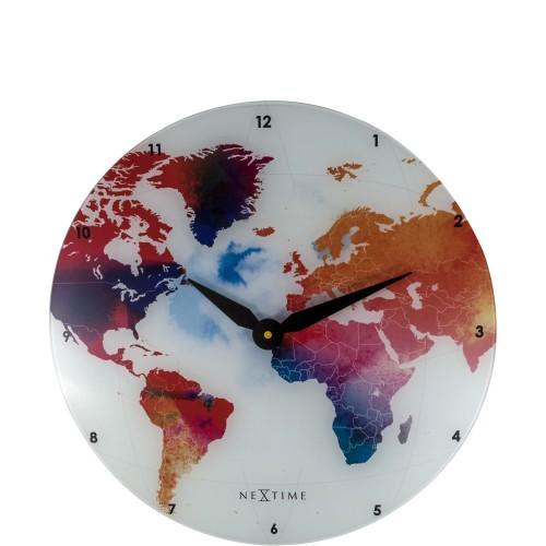 NeXtime Colorful World zegar ścienny