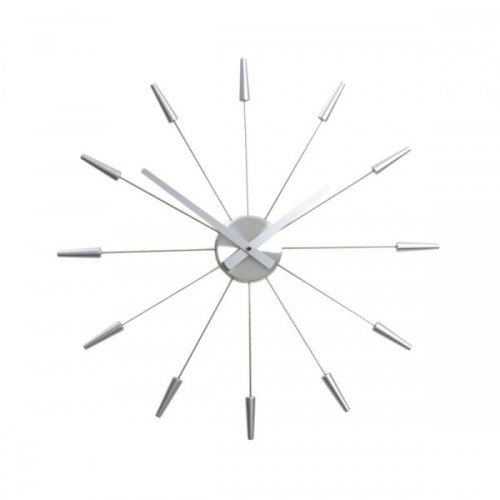 NeXtime Plug inn Silver zegar ścienny