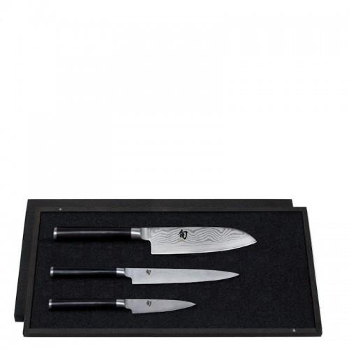 KAI Shun zestaw 3 noży w drewnianym etui